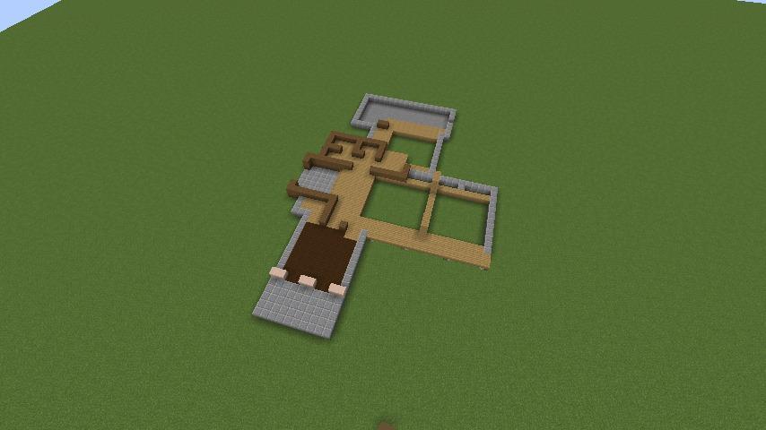 Minecrafterししゃもがマインクラフトでぷっこ村にサツキとメイの家を再現する1
