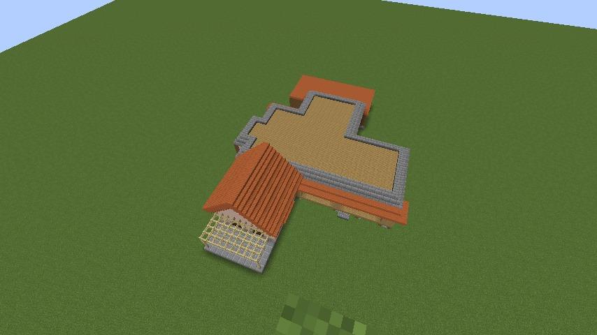 Minecrafterししゃもがマインクラフトでぷっこ村にサツキとメイの家を再現する3