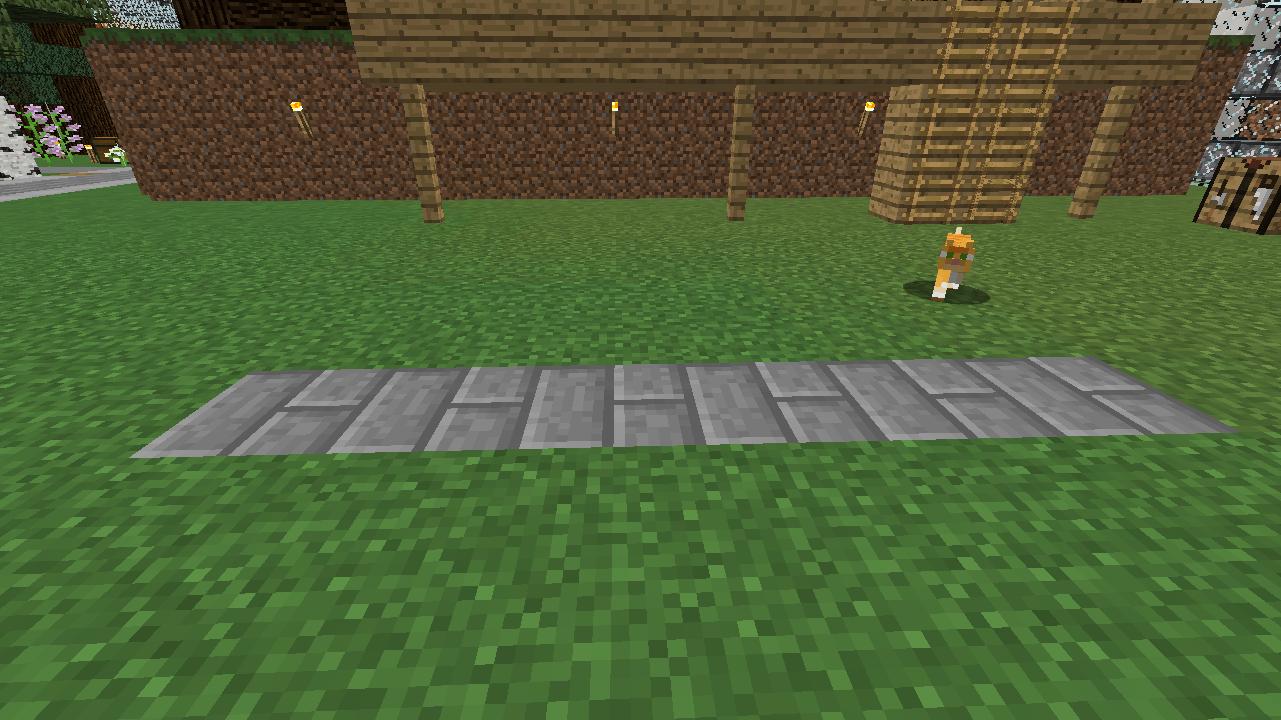 Minecrafterししゃもがマインクラフトでぷっこ村に水のカーテンを作成し作成方法を茶番を演じながら紹介する4