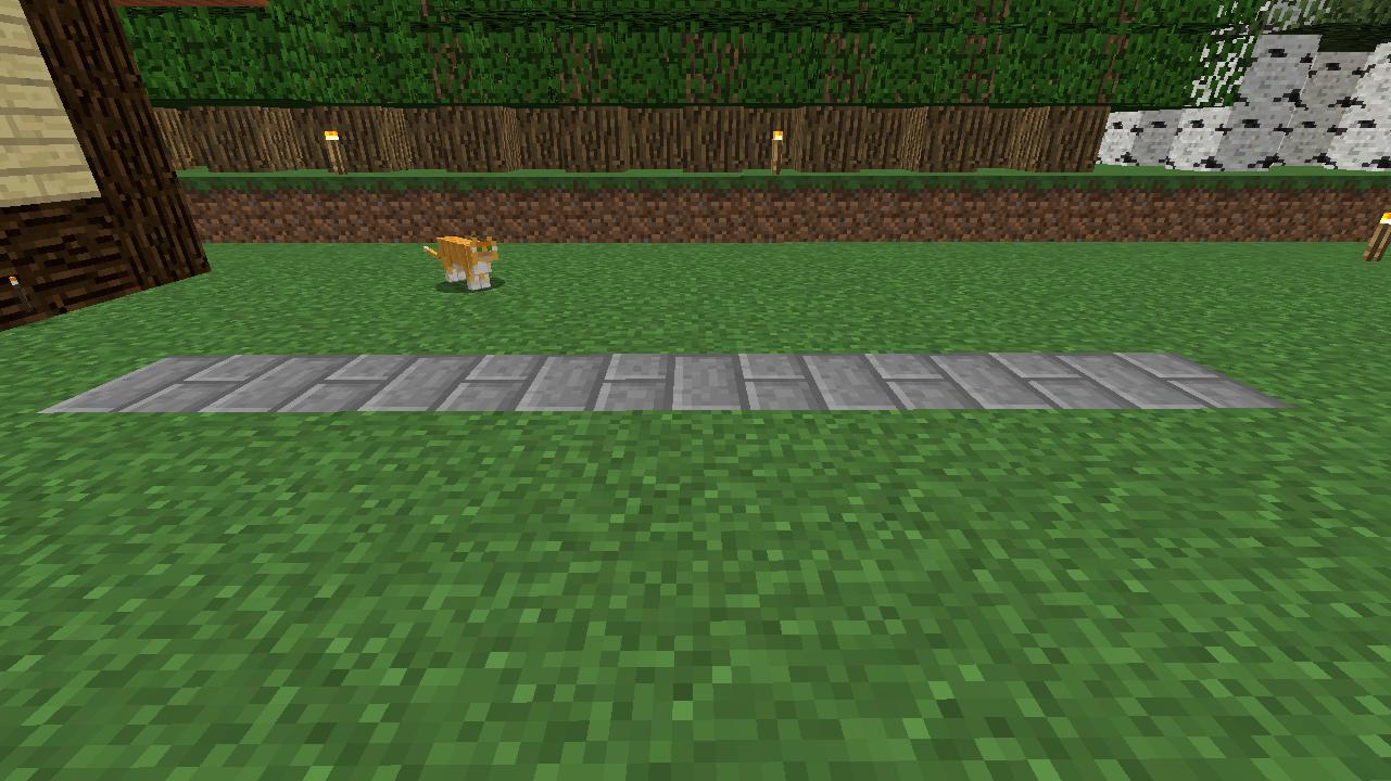 Minecrafterししゃもがマインクラフトでぷっこ村に水のカーテンを作成し作成方法を茶番を演じながら紹介する5