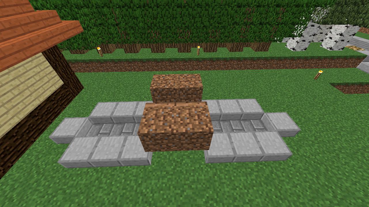 Minecrafterししゃもがマインクラフトでぷっこ村に水のカーテンを作成し作成方法を茶番を演じながら紹介する12