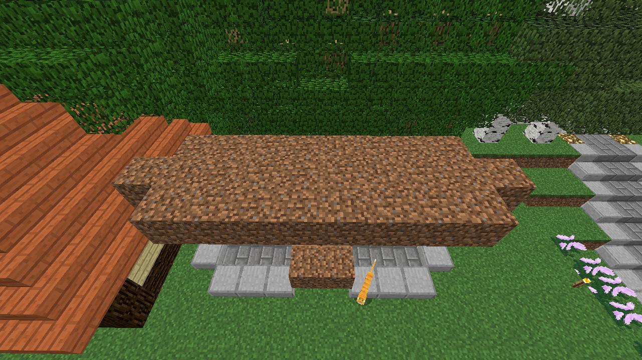 Minecrafterししゃもがマインクラフトでぷっこ村に水のカーテンを作成し作成方法を茶番を演じながら紹介する14