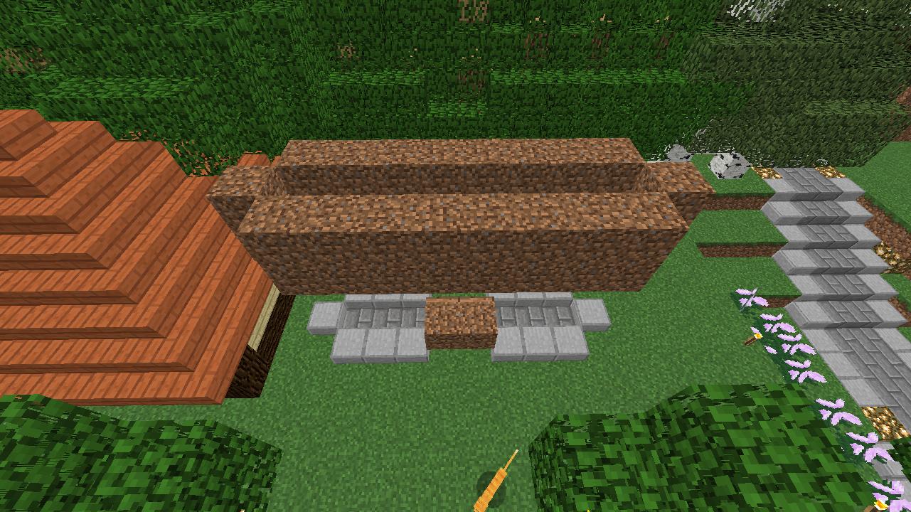 Minecrafterししゃもがマインクラフトでぷっこ村に水のカーテンを作成し作成方法を茶番を演じながら紹介する15