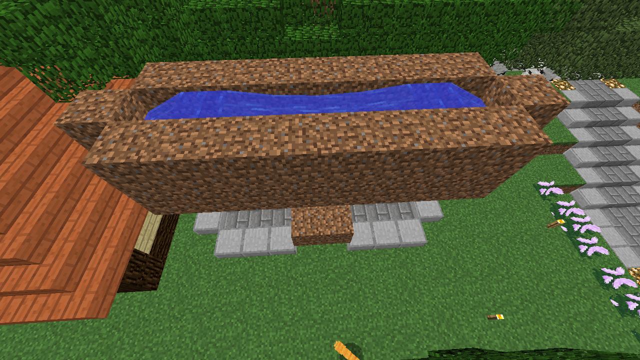 Minecrafterししゃもがマインクラフトでぷっこ村に水のカーテンを作成し作成方法を茶番を演じながら紹介する16