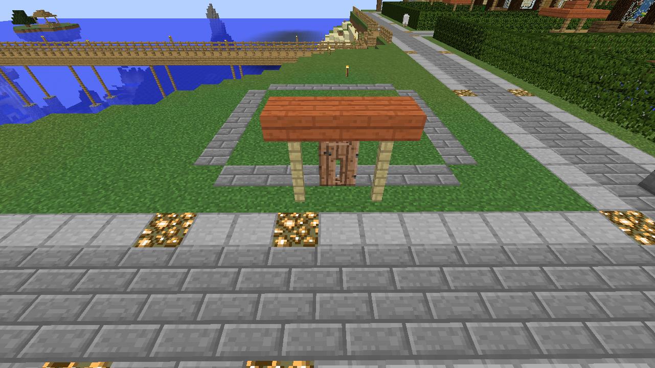 Minecrafterししゃもがマインクラフトでぷっこ村に水でできたかっこいい家を建設して茶番を演じながら作成方法を紹介する6