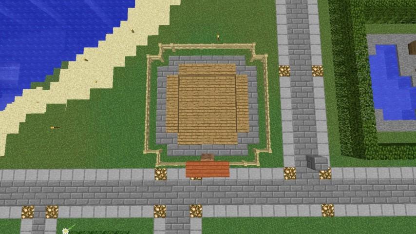 Minecrafterししゃもがマインクラフトでぷっこ村に水でできたかっこいい家を建設して茶番を演じながら作成方法を紹介する7