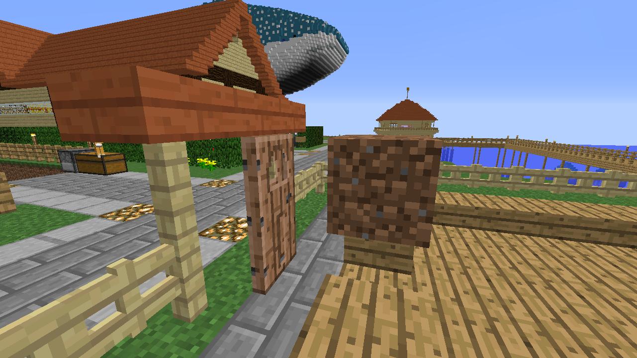 Minecrafterししゃもがマインクラフトでぷっこ村に水でできたかっこいい家を建設して茶番を演じながら作成方法を紹介する8