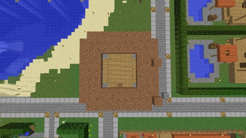 Minecrafterししゃもがマインクラフトでぷっこ村に水でできたかっこいい家を建設して茶番を演じながら作成方法を紹介する9