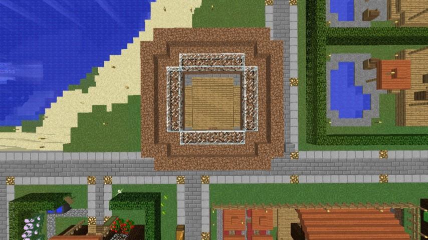 Minecrafterししゃもがマインクラフトでぷっこ村に水でできたかっこいい家を建設して茶番を演じながら作成方法を紹介する11