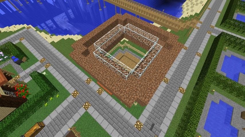 Minecrafterししゃもがマインクラフトでぷっこ村に水でできたかっこいい家を建設して茶番を演じながら作成方法を紹介する10