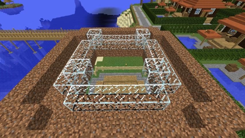 Minecrafterししゃもがマインクラフトでぷっこ村に水でできたかっこいい家を建設して茶番を演じながら作成方法を紹介する13