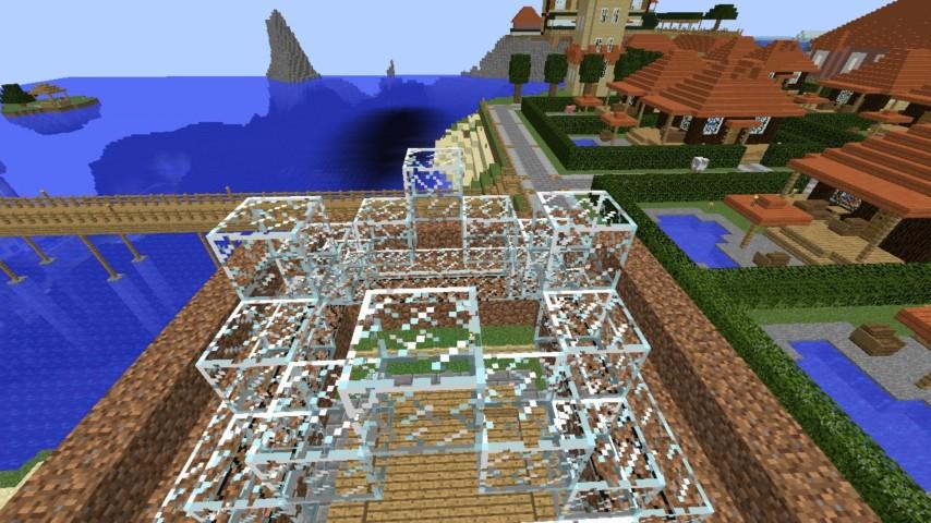 Minecrafterししゃもがマインクラフトでぷっこ村に水でできたかっこいい家を建設して茶番を演じながら作成方法を紹介する15
