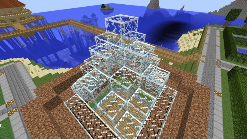 Minecrafterししゃもがマインクラフトでぷっこ村に水でできたかっこいい家を建設して茶番を演じながら作成方法を紹介する18