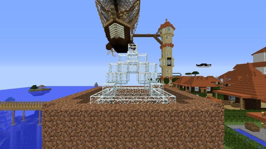 Minecrafterししゃもがマインクラフトでぷっこ村に水でできたかっこいい家を建設して茶番を演じながら作成方法を紹介する20