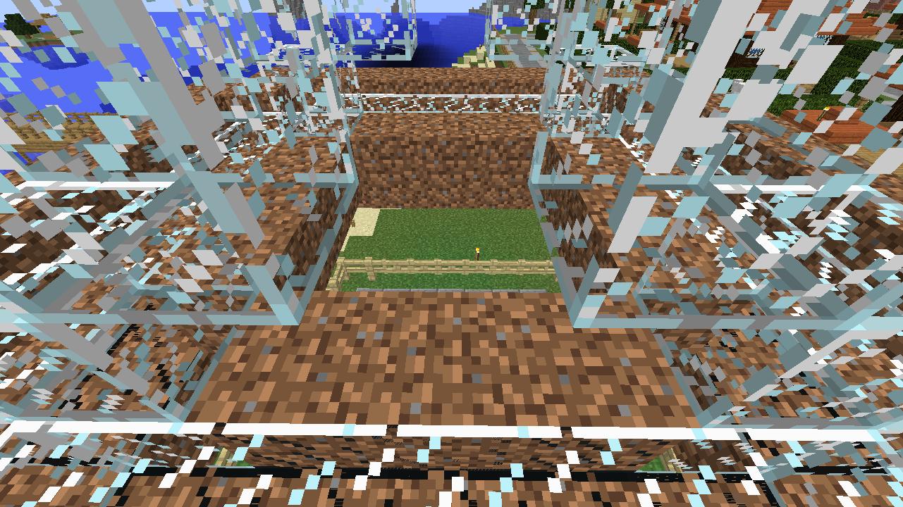 Minecrafterししゃもがマインクラフトでぷっこ村に水でできたかっこいい家を建設して茶番を演じながら作成方法を紹介する21