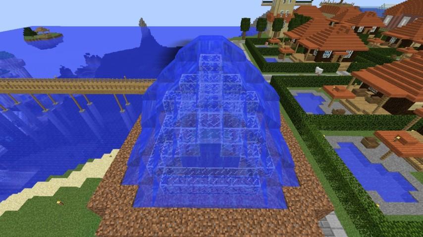 Minecrafterししゃもがマインクラフトでぷっこ村に水でできたかっこいい家を建設して茶番を演じながら作成方法を紹介する23