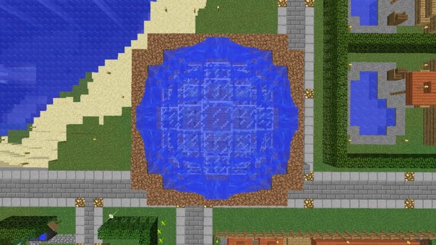 Minecrafterししゃもがマインクラフトでぷっこ村に水でできたかっこいい家を建設して茶番を演じながら作成方法を紹介する24