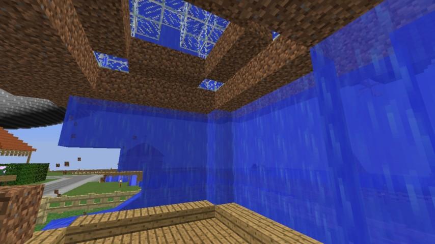 Minecrafterししゃもがマインクラフトでぷっこ村に水でできたかっこいい家を建設して茶番を演じながら作成方法を紹介する25