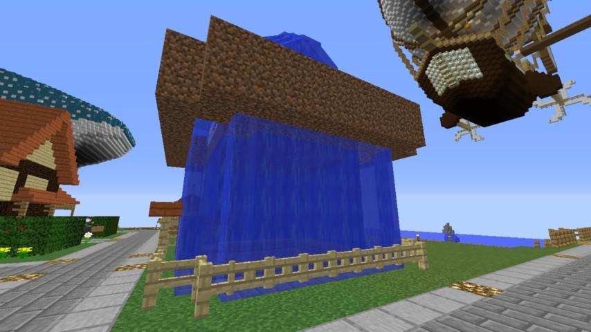 Minecrafterししゃもがマインクラフトでぷっこ村に水でできたかっこいい家を建設して茶番を演じながら作成方法を紹介する26