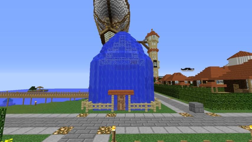 Minecrafterししゃもがマインクラフトでぷっこ村に水でできたかっこいい家を建設して茶番を演じながら作成方法を紹介する27