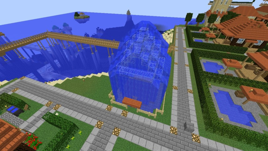 Minecrafterししゃもがマインクラフトでぷっこ村に水でできたかっこいい家を建設して茶番を演じながら作成方法を紹介する3