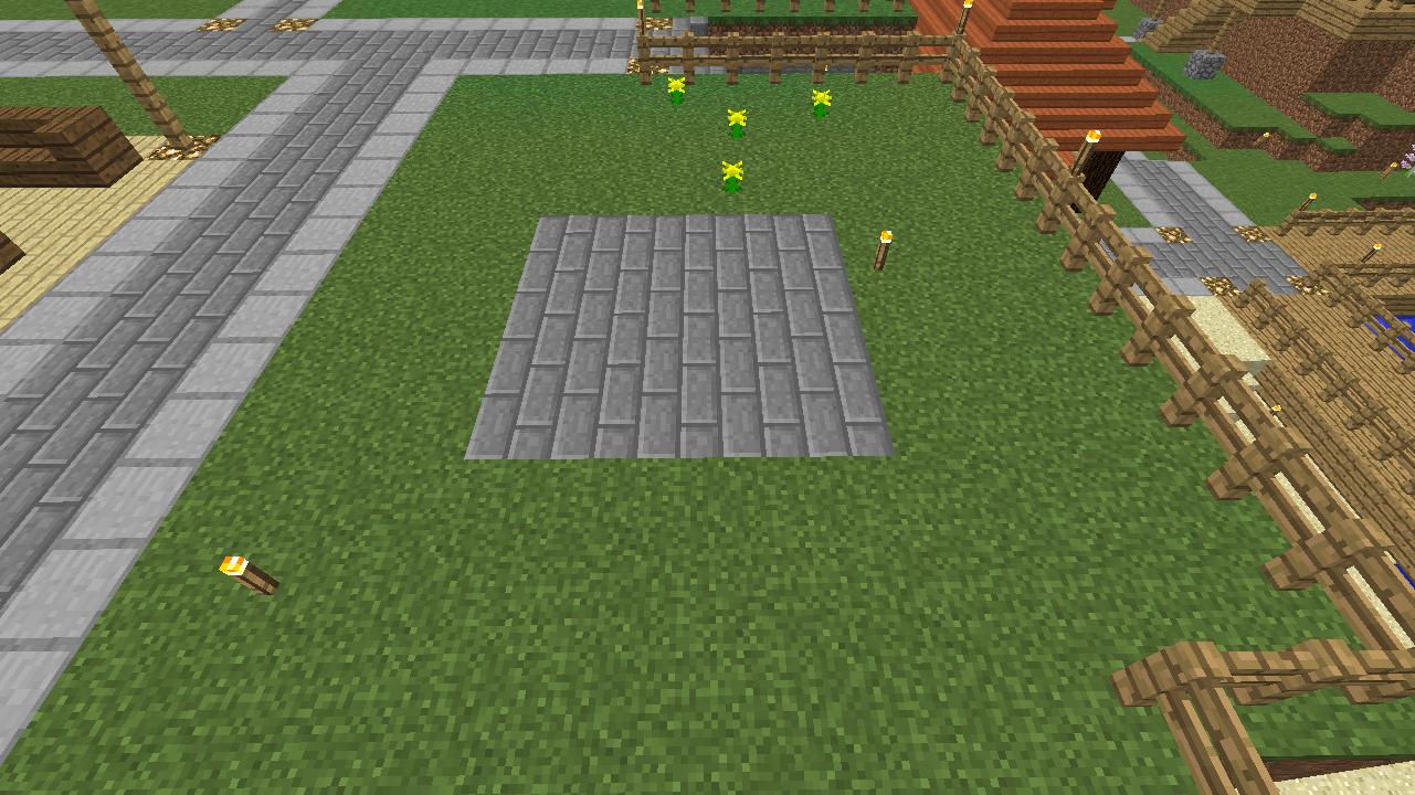 Minecrafterししゃもがマインクラフトでぷっこ村にオシャレな噴水を建設して作り方を茶番を演じながら紹介する3