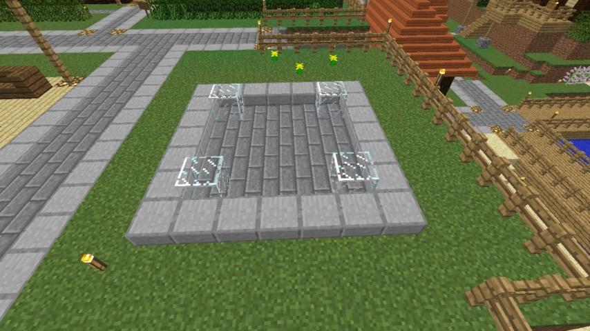 Minecrafterししゃもがマインクラフトでぷっこ村にオシャレな噴水を建設して作り方を茶番を演じながら紹介する4