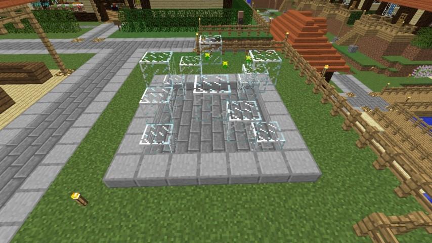 Minecrafterししゃもがマインクラフトでぷっこ村にオシャレな噴水を建設して作り方を茶番を演じながら紹介する7