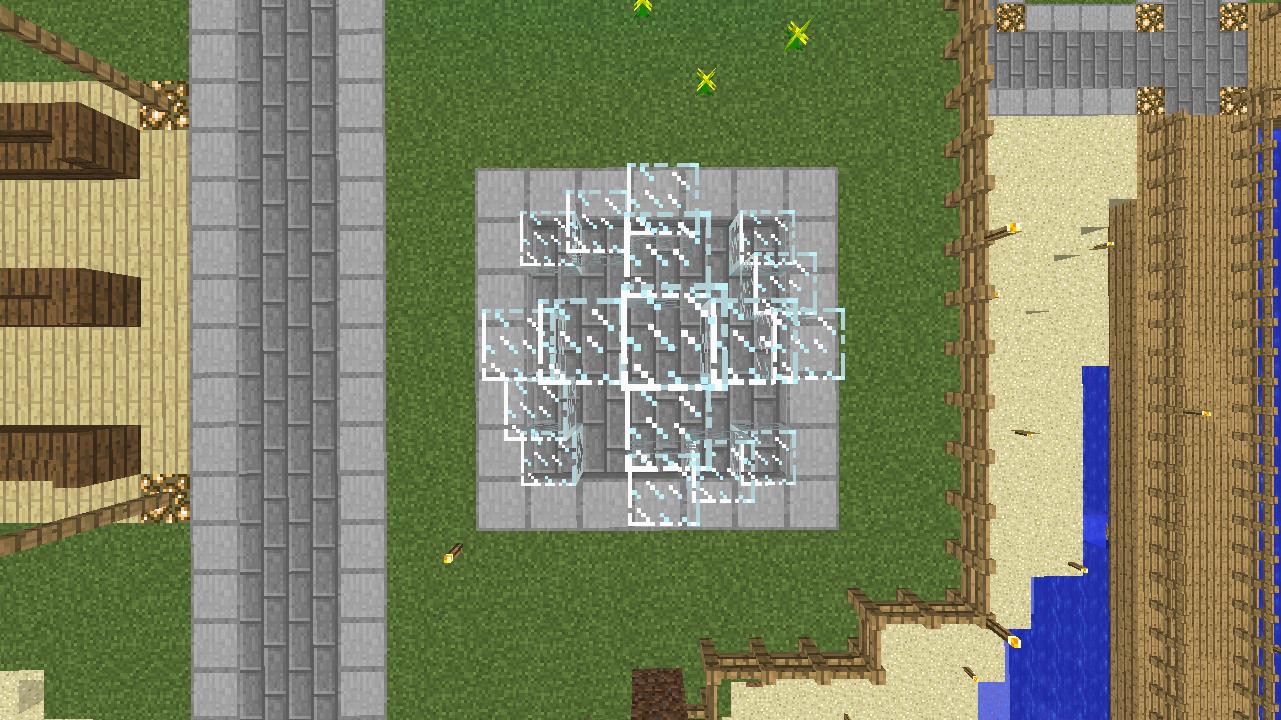Minecrafterししゃもがマインクラフトでぷっこ村にオシャレな噴水を建設して作り方を茶番を演じながら紹介する12