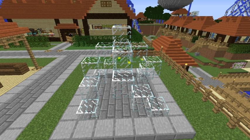 Minecrafterししゃもがマインクラフトでぷっこ村にオシャレな噴水を建設して作り方を茶番を演じながら紹介する11