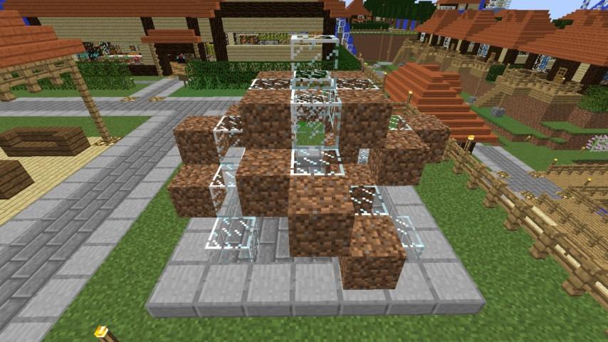 Minecrafterししゃもがマインクラフトでぷっこ村にオシャレな噴水を建設して作り方を茶番を演じながら紹介する13