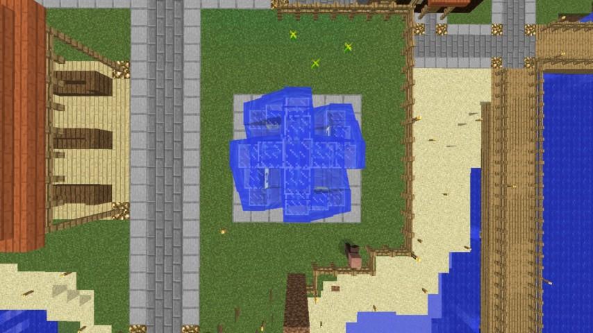 Minecrafterししゃもがマインクラフトでぷっこ村にオシャレな噴水を建設して作り方を茶番を演じながら紹介する21