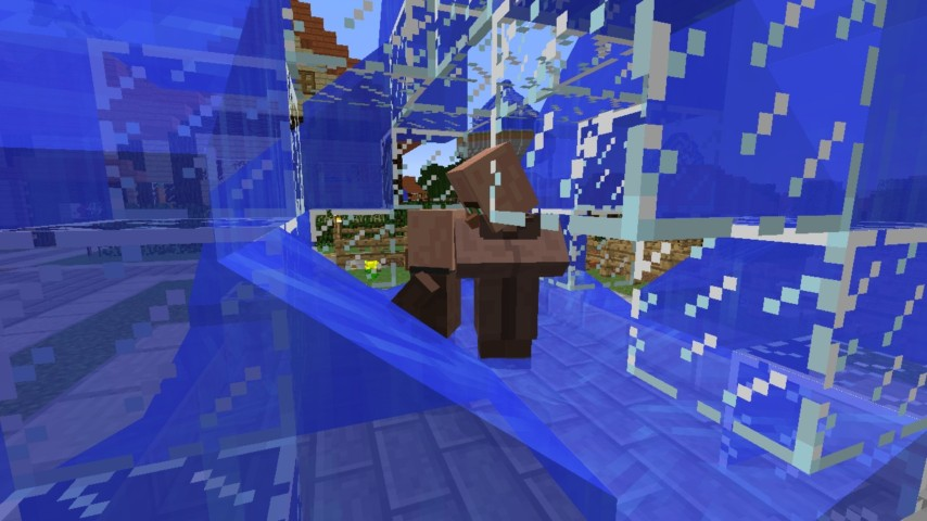 Minecrafterししゃもがマインクラフトでぷっこ村にオシャレな噴水を建設して作り方を茶番を演じながら紹介する23