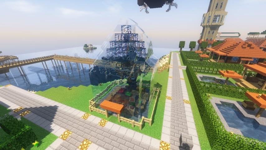 Minecrafterししゃもがマインクラフトでぷっこ村に水でできたかっこいい家を建設して茶番を演じながら作成方法を紹介する30