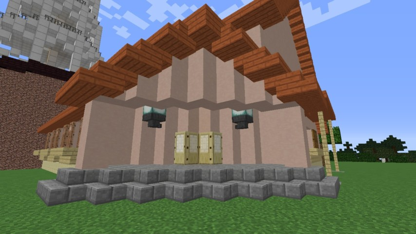 Minecrafterししゃもがマンクラフトでぷっこ村に放送局を建設して紹介する2