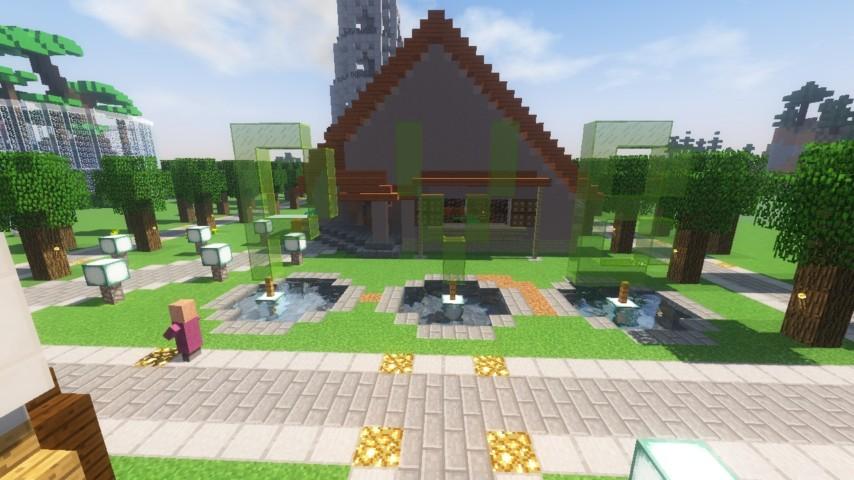Minecrafterししゃもがマンクラフトでぷっこ村に放送局を建設して紹介する15