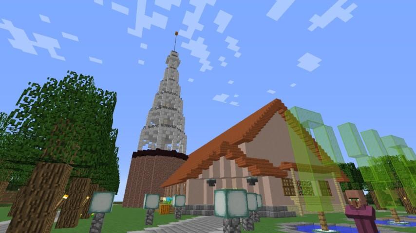 Minecrafterししゃもがマンクラフトでぷっこ村に放送局を建設して紹介する1