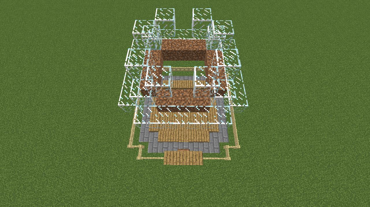 Minecrafterししゃもがマインクラフトでぷっこ村に水でできたかっこいい家を建設して茶番を演じながら作成方法を紹介する12