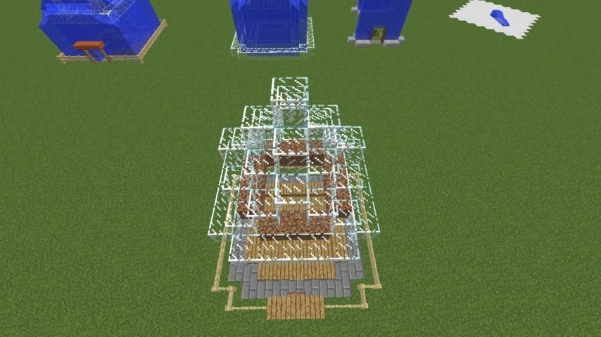 Minecrafterししゃもがマインクラフトでぷっこ村に水でできたかっこいい家を建設して茶番を演じながら作成方法を紹介する14