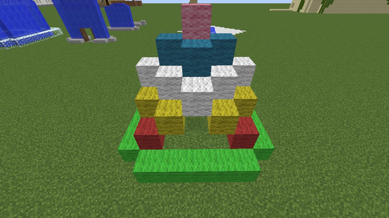 Minecrafterししゃもがマインクラフトでぷっこ村に水でできたかっこいい家を建設して茶番を演じながら作成方法を紹介する16