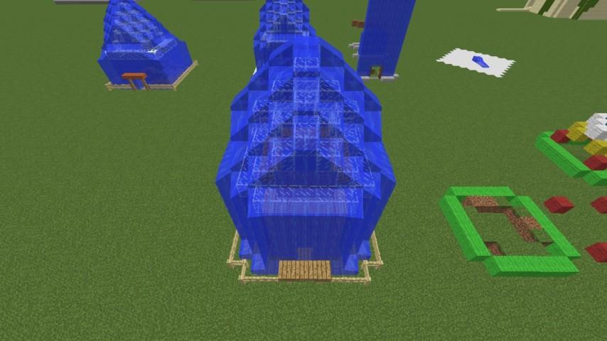 Minecrafterししゃもがマインクラフトでぷっこ村に水でできたかっこいい家を建設して茶番を演じながら作成方法を紹介する17