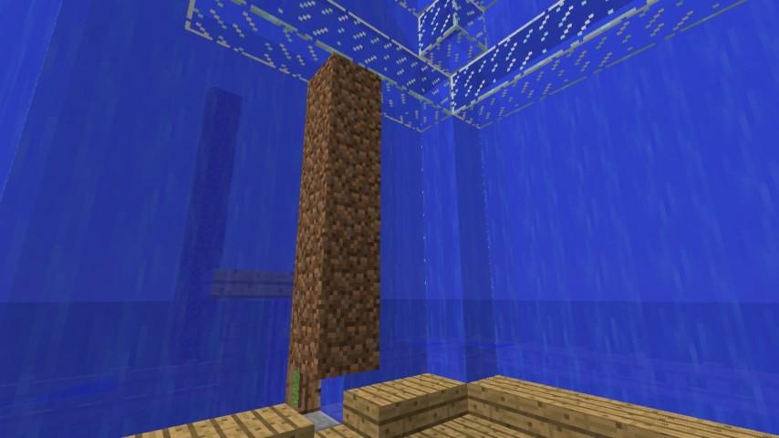 Minecrafterししゃもがマインクラフトでぷっこ村に水でできたかっこいい家を建設して茶番を演じながら作成方法を紹介する19