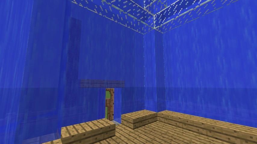 Minecrafterししゃもがマインクラフトでぷっこ村に水でできたかっこいい家を建設して茶番を演じながら作成方法を紹介する22