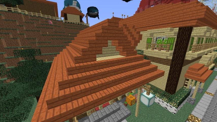 Minecrafterししゃもがマインクラフトでぷっこ村にグラバー園にある旧自由邸をぷっこ村仕様でアレンジ再現する8