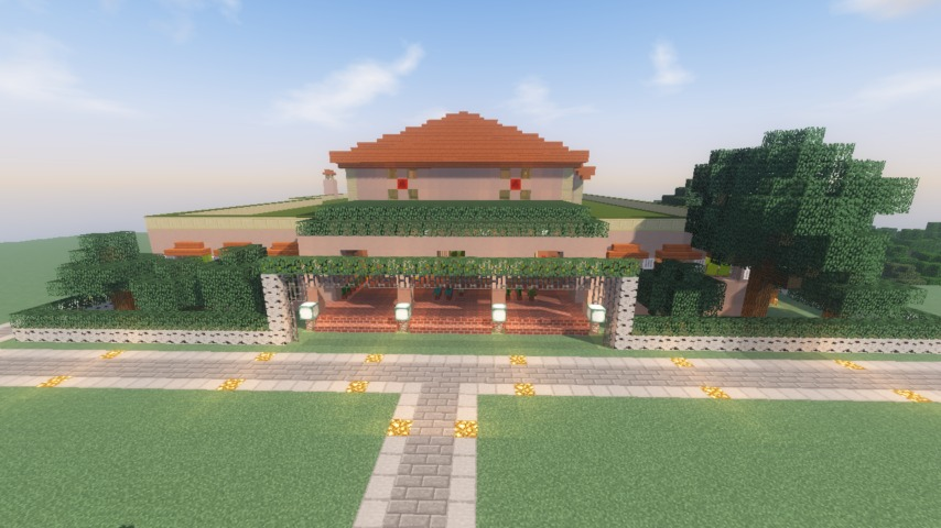 Minecrafterししゃもがマインクラフトでぷっこ村に山手111番館を再現する9