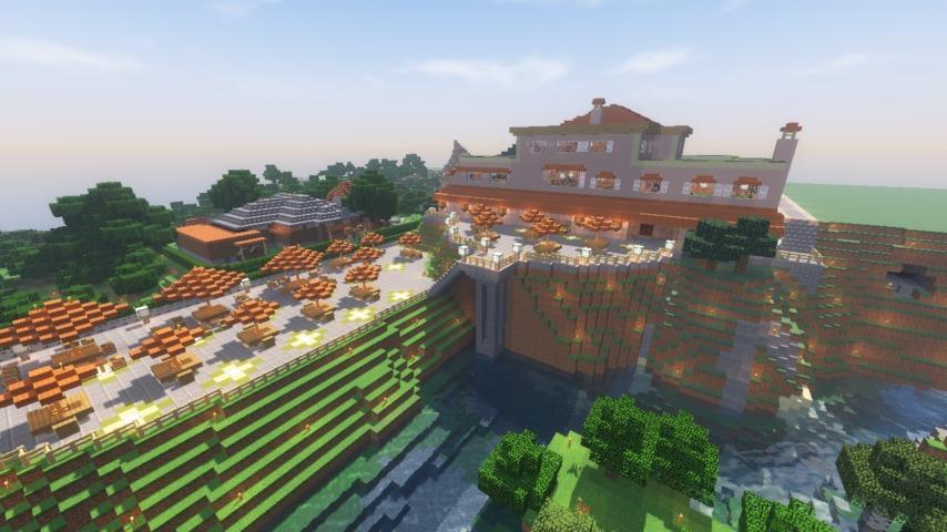 Minecrafterししゃもがマインクラフトでぷっこ村に山手111番館を再現する12