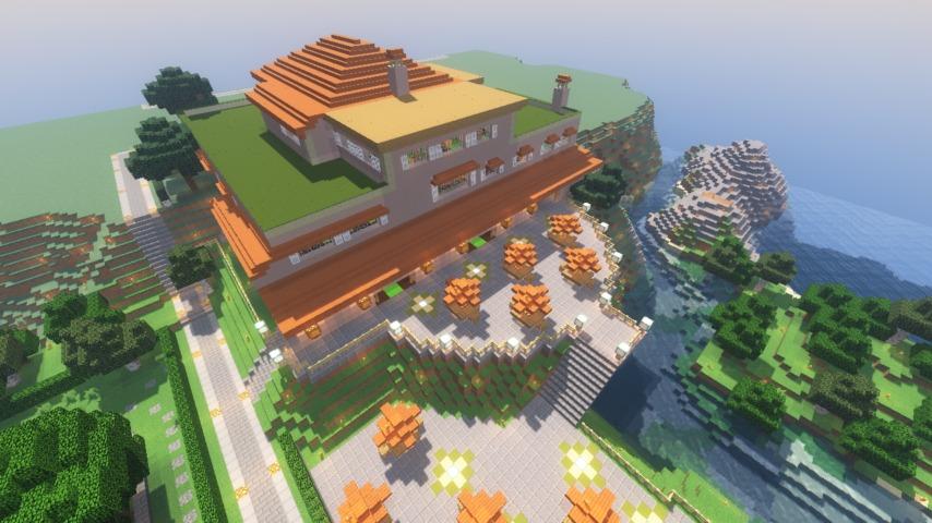 Minecrafterししゃもがマインクラフトでぷっこ村に山手111番館を再現する11