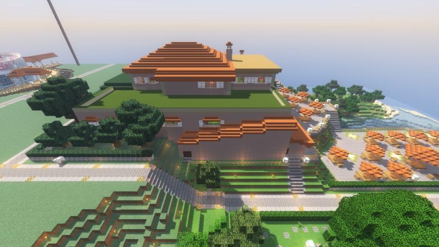 Minecrafterししゃもがマインクラフトでぷっこ村に山手111番館を再現する10