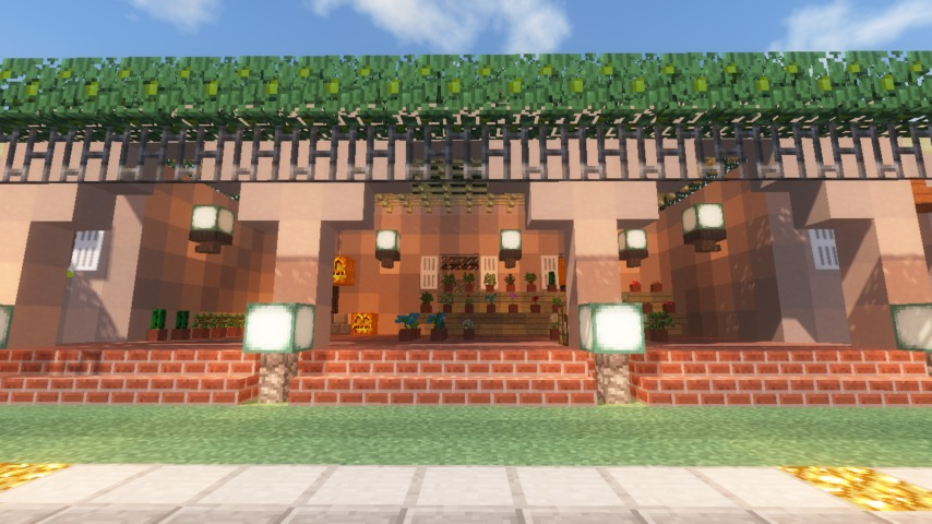 Minecrafterししゃもがマインクラフトでぷっこ村に山手111番館を再現する14