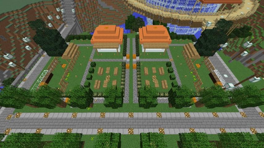 Minecrafterししゃもがマインクラフトでずっと前に作った公園をぷっこ村に移築して大改造劇的ビフォーアフター1